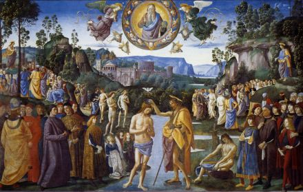 baptism of christ 1483 Perugino