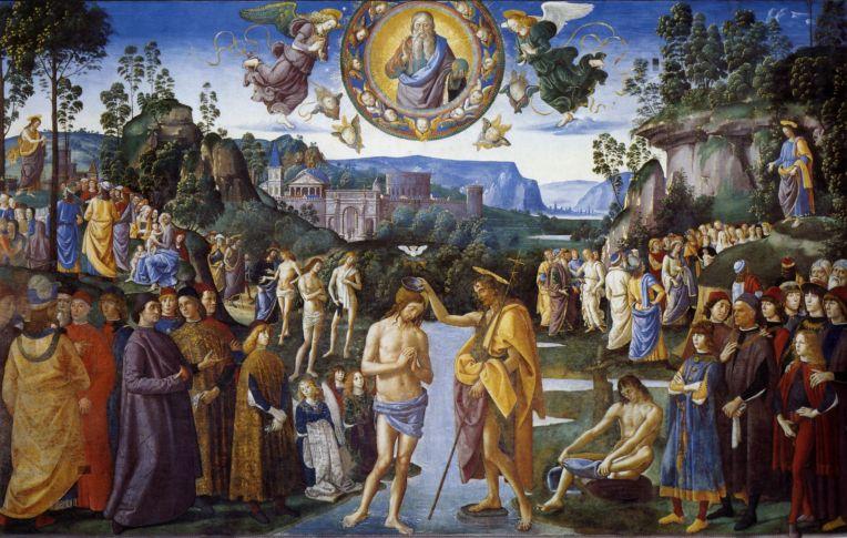 baptism of christ 1483 Perugino
