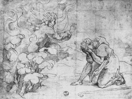 Moses burning bush drawing