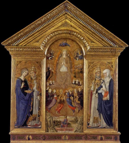 Vecchietta_V of the Assumption w Sts._1462-63_Pienza_Cathedral Saint Agatha