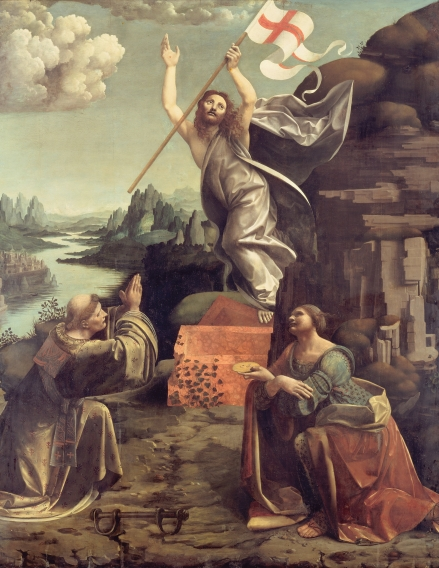 Giovanni_Antonio_Boltraffio_and_Marco_d'Oggiono_-_The_Resurrection_of_Christ_with_SS._Leonard_of_Noblac_and_Lucia_-_Google_Art_Project