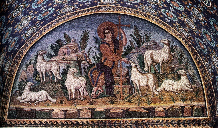 Good Shepherd mosaic - cropped
