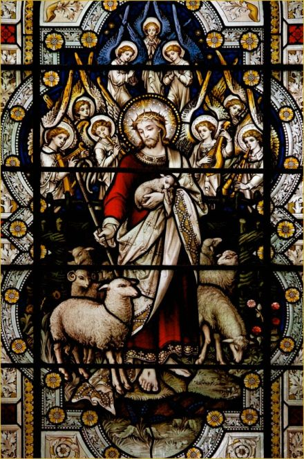 Good Shepherd stained glass 2