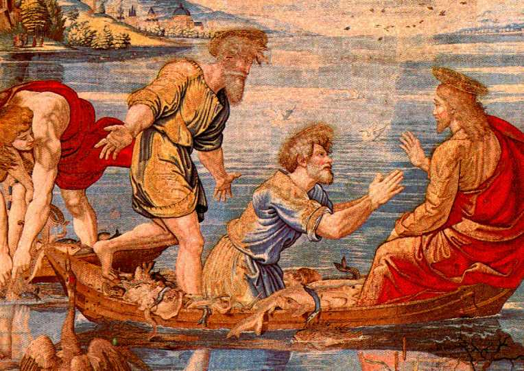 tapestry raphael fish John 21