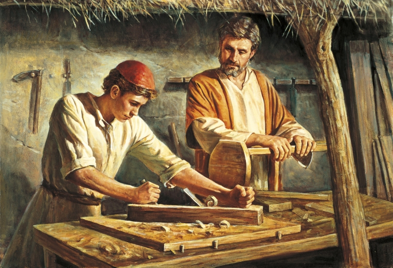 St. Joseph the Worker and the Child Jesus