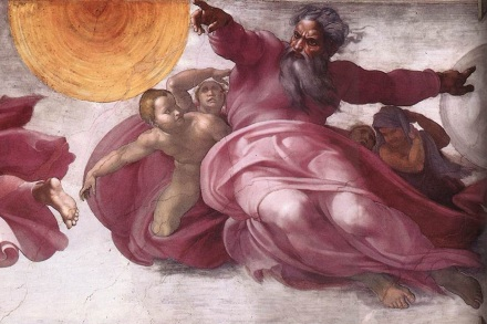 Michelangelo, Creation of Sun, Moon, Planets 1511.jpg