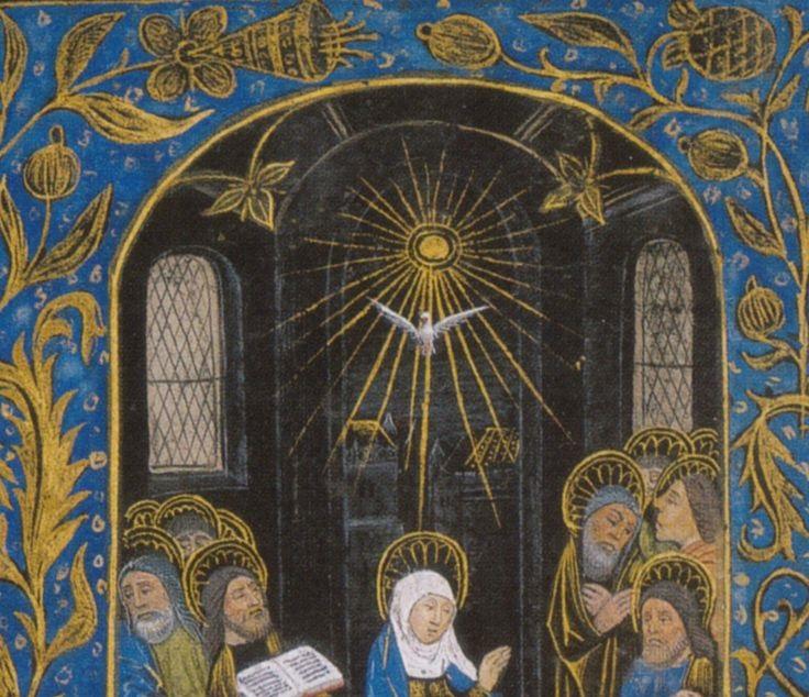 Pentecost blue top half