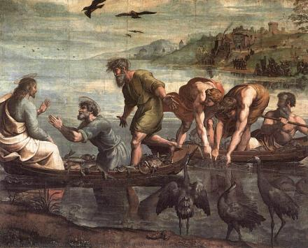 Raphael-raffaello-sanzio-da-urbino-the-miraculous-draught-of-fishes
