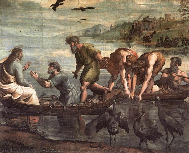 Raphael-raffaello-sanzio-da-urbino-the-miraculous-draught-of-fishes