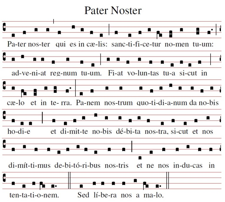 Pater Noster chant