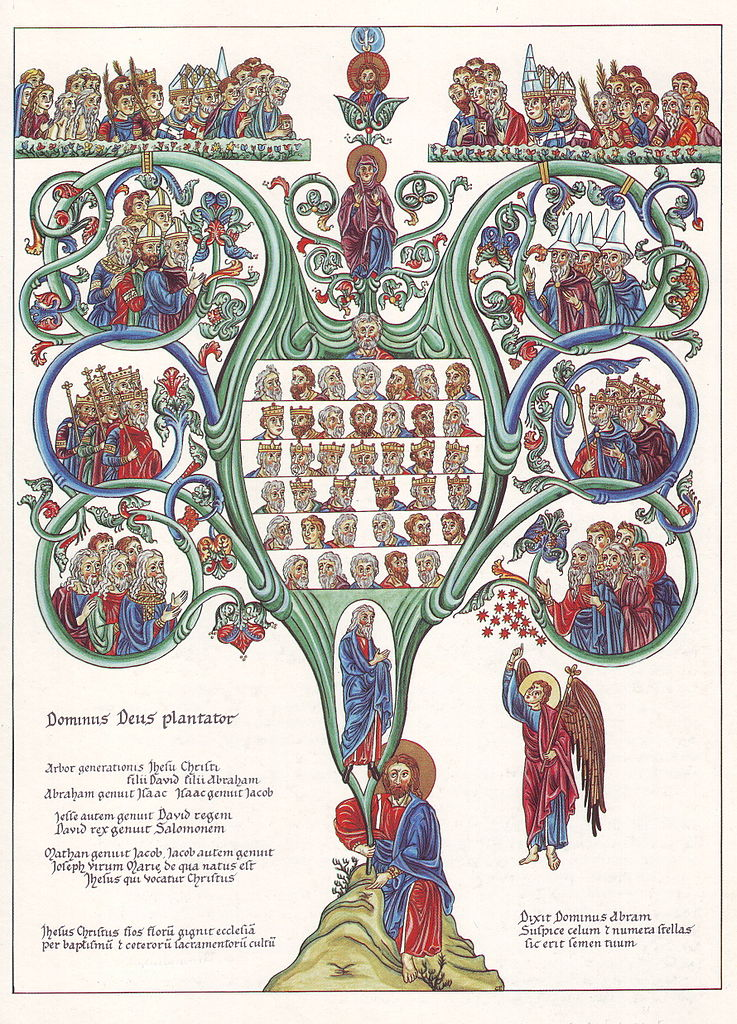 Advent December 17 - Hortus Deliciarum - Der Stammbaum Christi