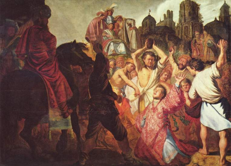 St. Stephen Stoning - Rembrandt