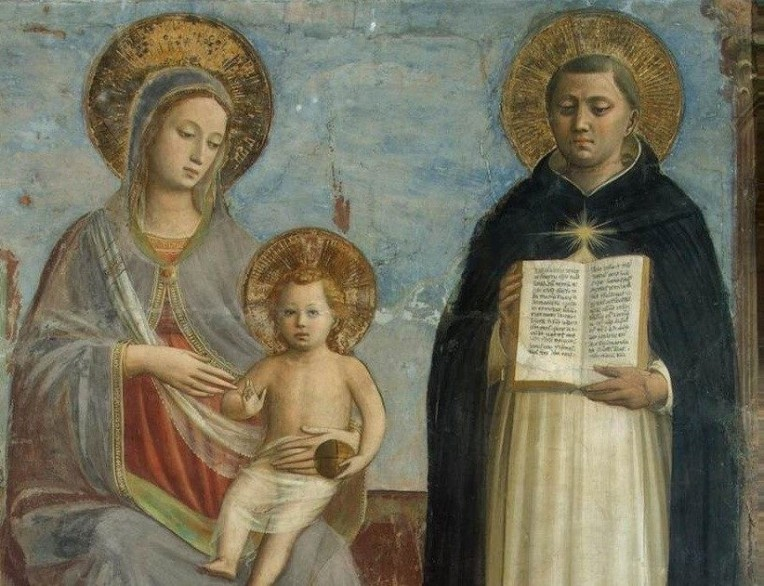 Fra Angelico Virgin Mary with Aquinas CROPPED