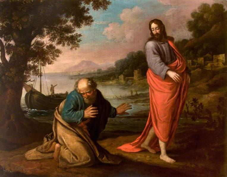 Flemish School; Christ Rebuking or Calling Saint Peter