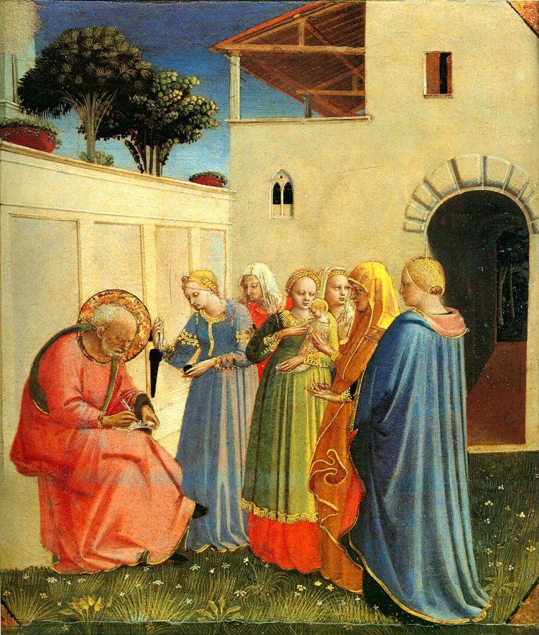 Nativity of St. John the Baptist - Fra Angelico