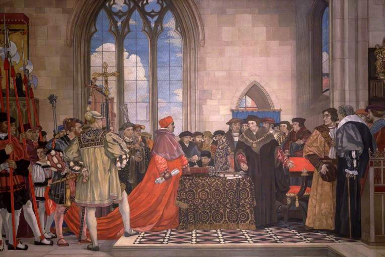 Forbes, Vivian, 1891-1937; Sir Thomas More Refusing to Grant Wolsey a Subsidy, 1523