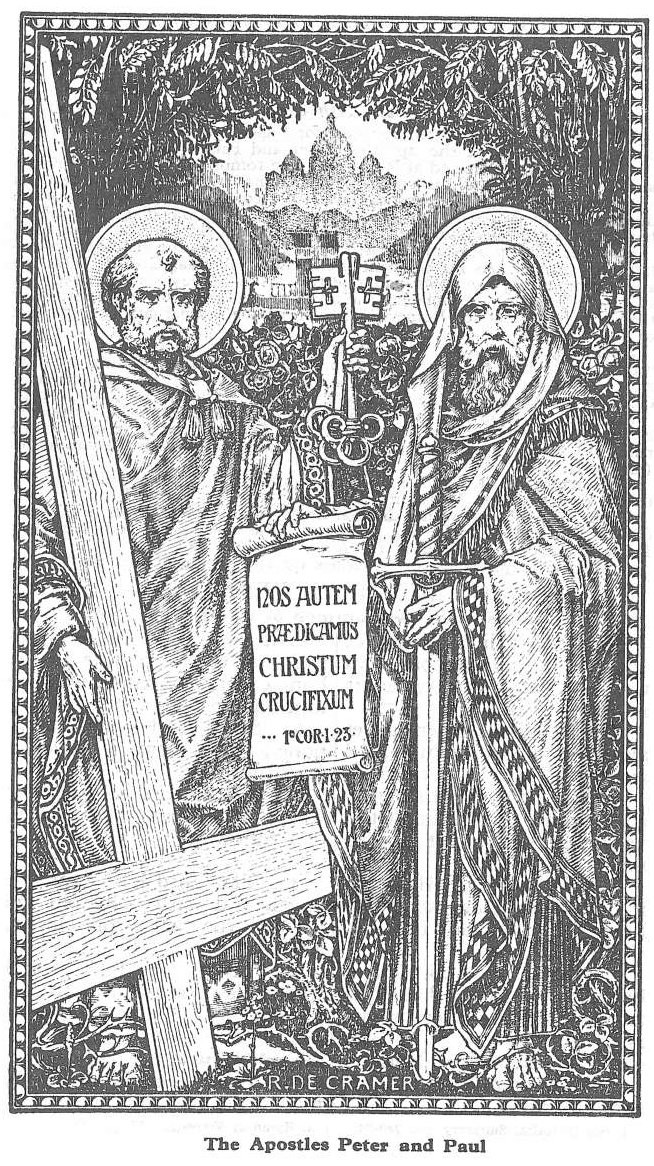 Sts. Peter & Paul - line art