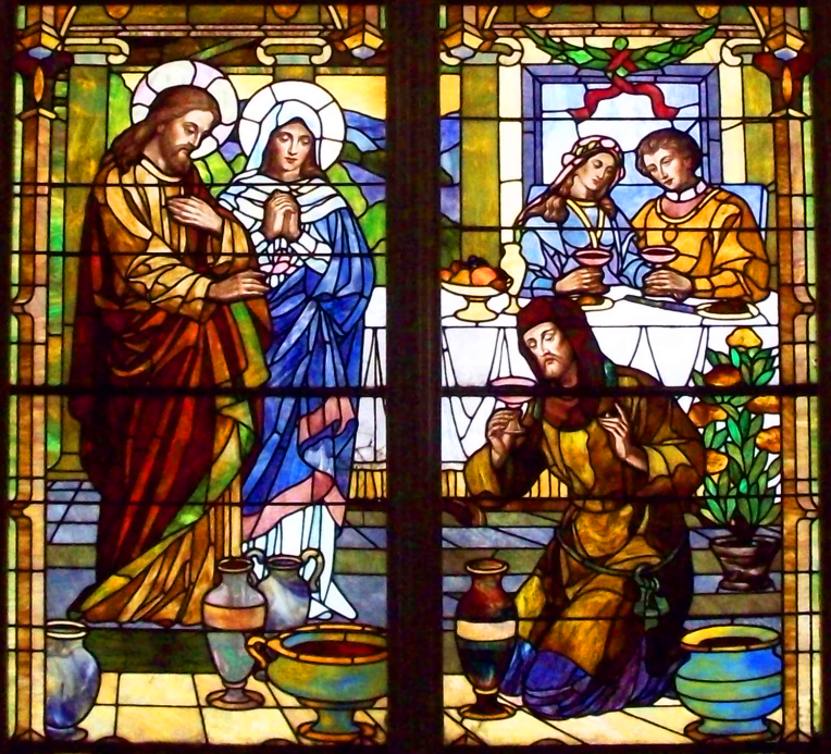 Wedding at Cana - stained glass CROPPED
