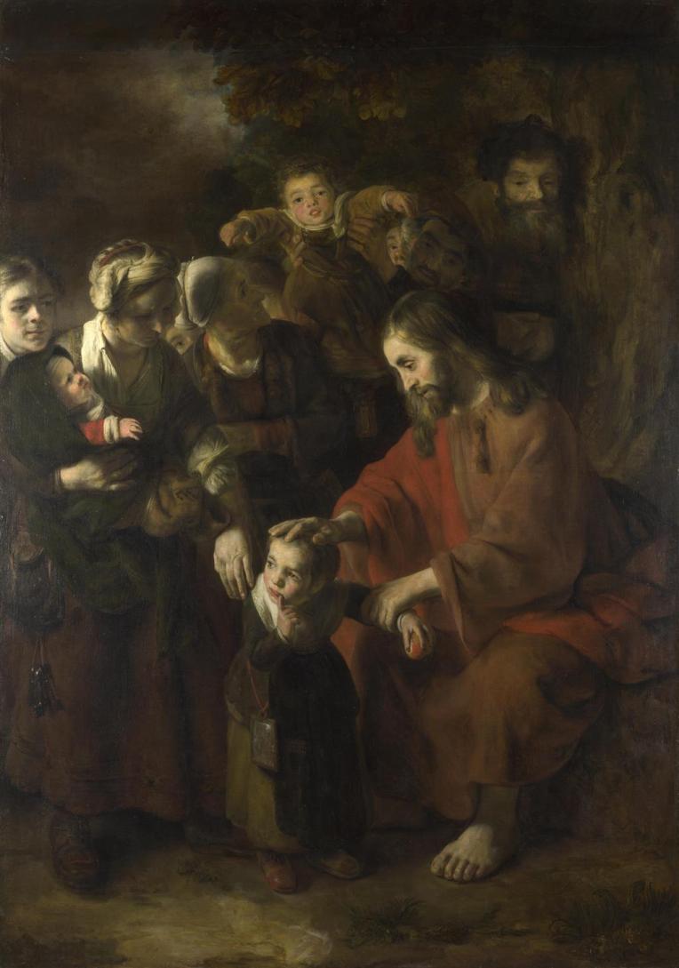 Jesus blesses children - Maes