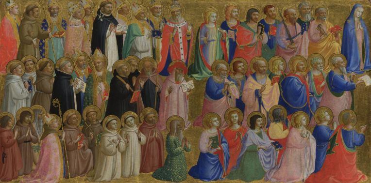 The Virgin Mary with the Apostles and Other Saints